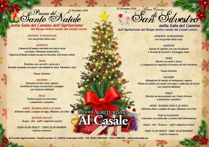 Menu natale Capodanno Casale 2016 890x629 Pranzo di Natale 2016 e cenone di Capodanno in agriturismo a Codroipo